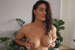 Florina Fitness Topless Nude Fishnet Stockings